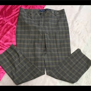 Gray Plaid Trousers 14 Petite Stretch Evan Picine